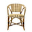 Cream, Brown & White Mediterranean Bistro Chair with Woven Arms (W)