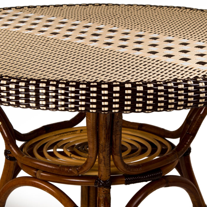 Cream, Brown & White Mediterranean Bistro Table (4 Seater)
