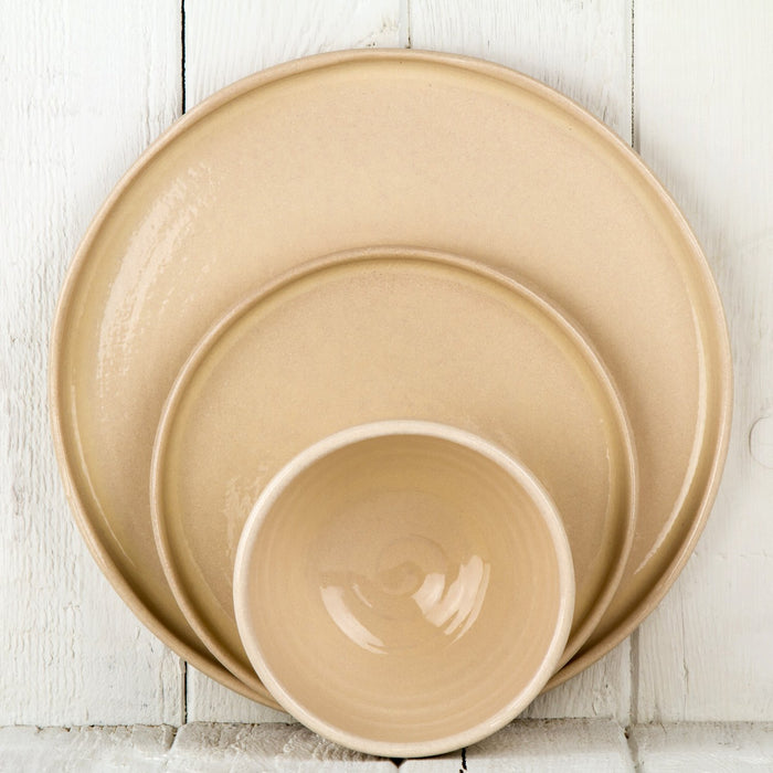 Cream Ceramic Salad Plate