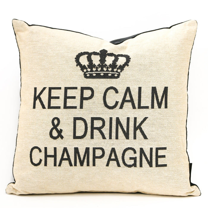 Cream Keep Calm Pillow