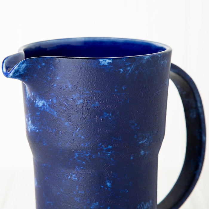 Dark Blue Ceramic Pitcher