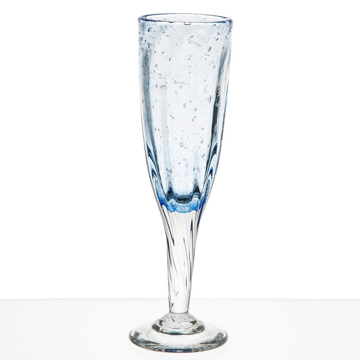 Blue French Hand Blown Barware