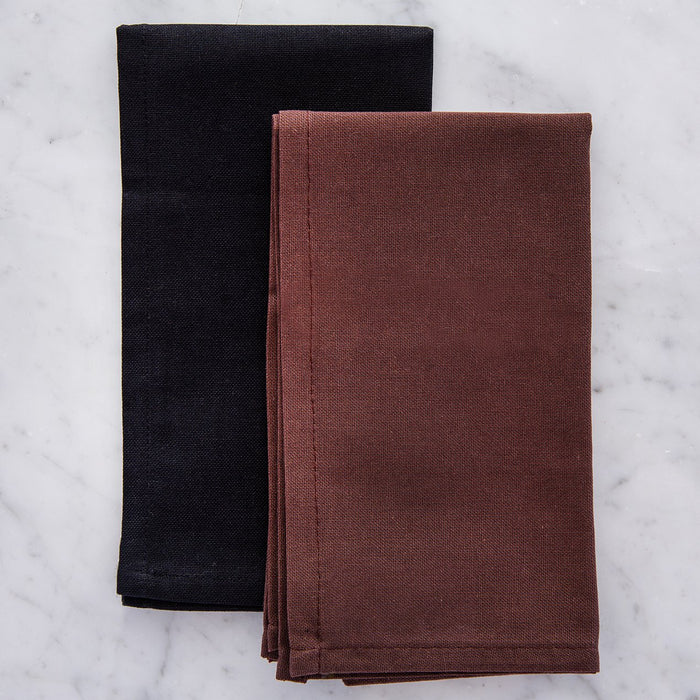 "Dark Classic Cotton Single Stitch Napkins (17"")"