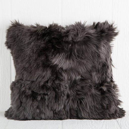 Dark Grey Alpaca Pillow