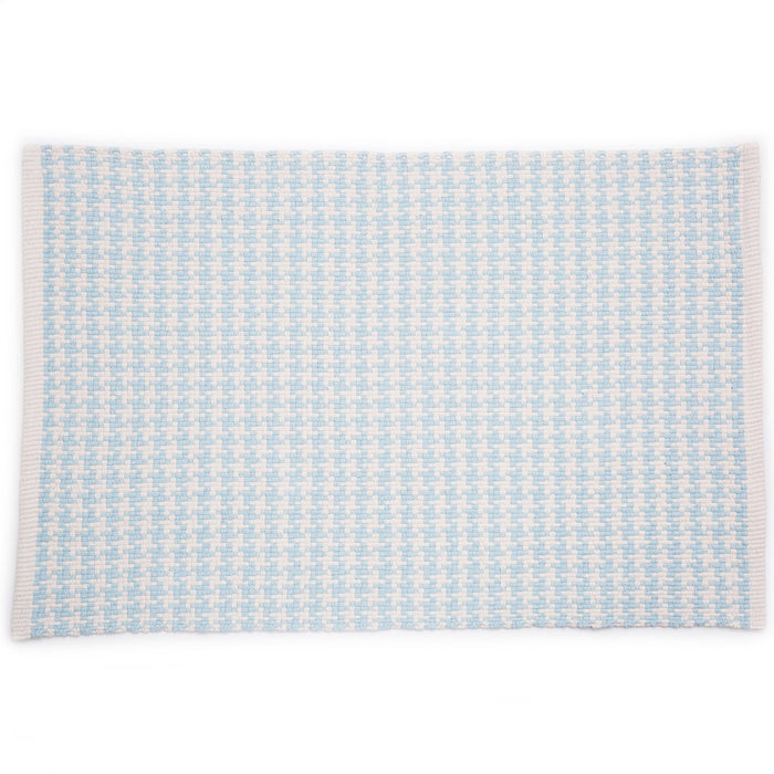 Dash & Albert Blue Checks Indoor / Outdoor Rug