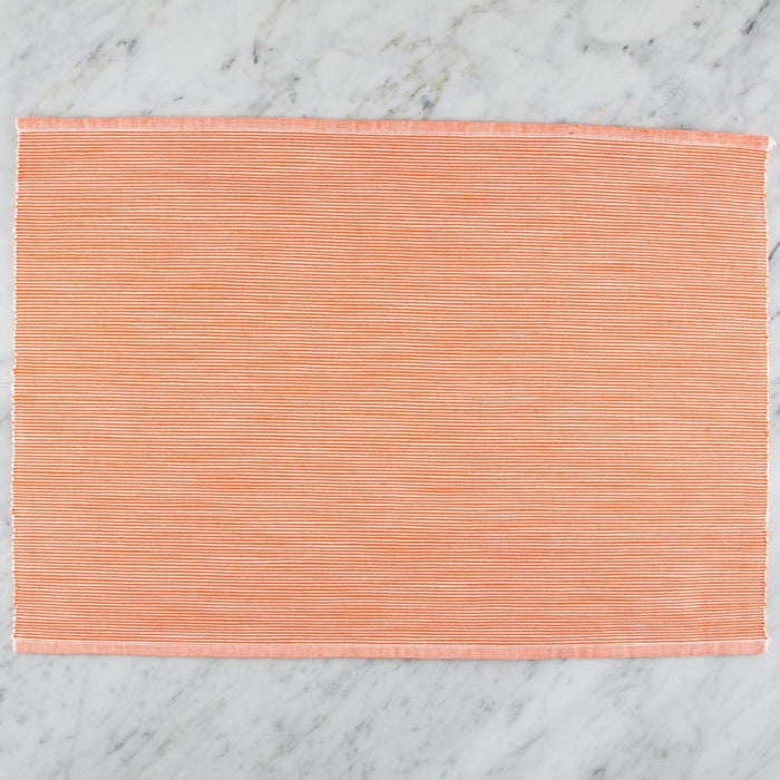 "Delicately Striped Orange 100% Cotton Placemat (18.75""x13"")"