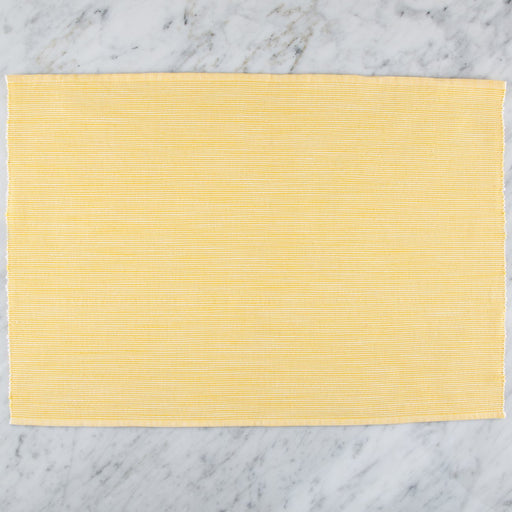 "Delicately Striped Yellow 100% Cotton Placemat (18.75""x13"")"