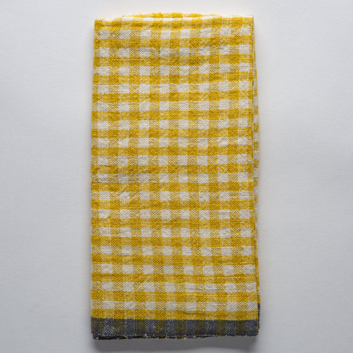 Dijon Checked Gingham Tea Towel