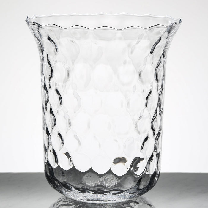 Dimpled Glass Vase
