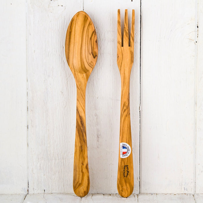 Dubost Olive Wood Salad Servers