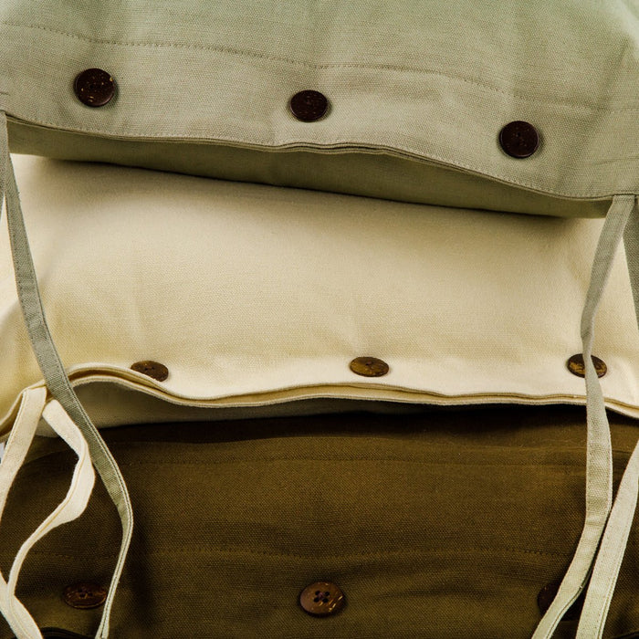 "Durable Brown Cotton Seat Cushion (17"" x 16.5"")"
