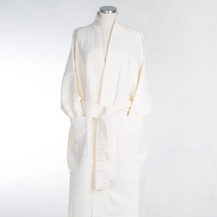 Small Cream Cotton Kimono Robe