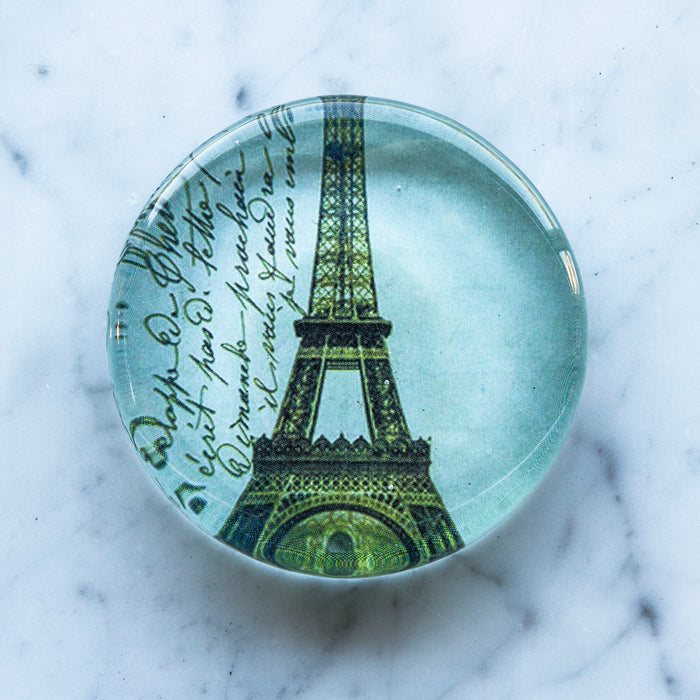 "Eiffel Tower Glass Paperweight (3""Ø)"