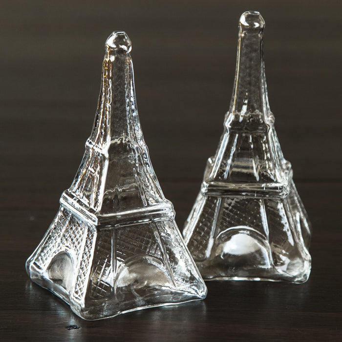 Eiffel Tower Glass Salt and Pepper Shakers