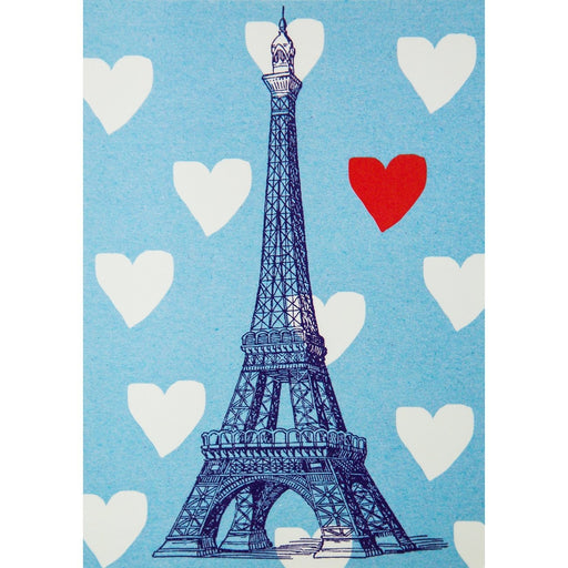 Eiffel Tower Postcard - Love