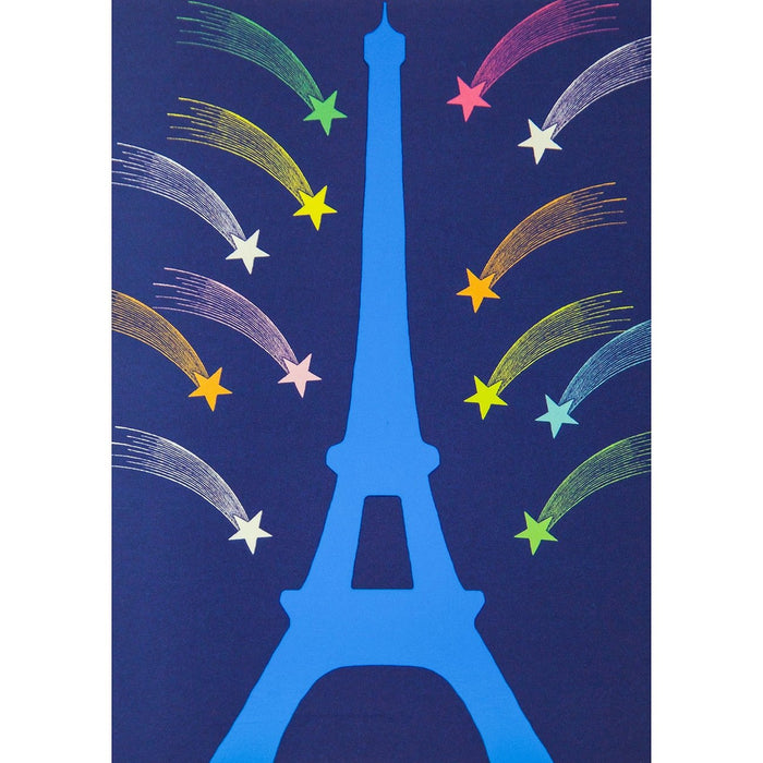 Eiffel Tower Postcard - Shooting Star