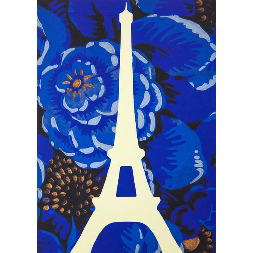 Eiffel Tower Postcard - Soir Blue