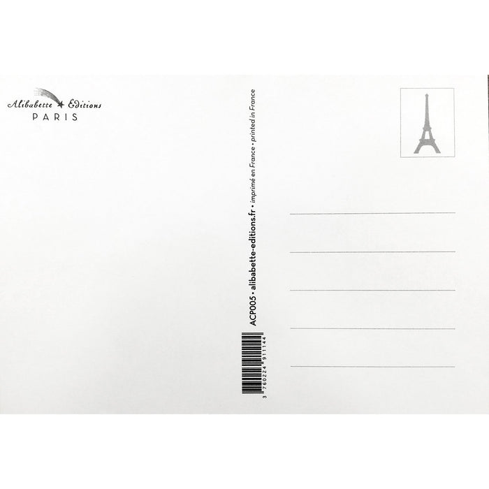 Eiffel Tower Postcard - Stripe