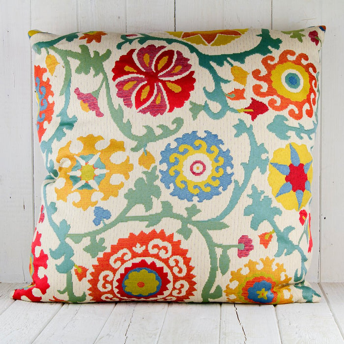 Embossed Floral Pillow