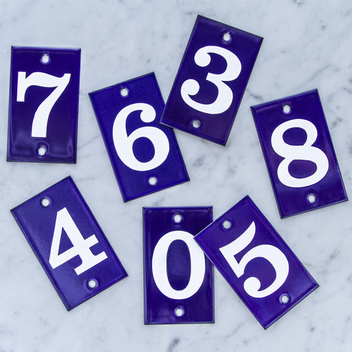 Enamel Address Plaques (More Numbers Available)