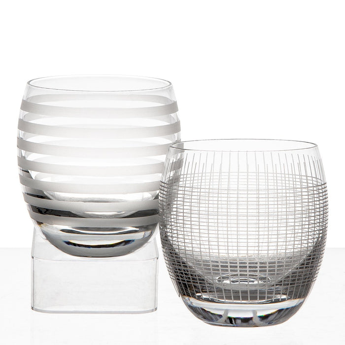 Etched Whiskey Tumbler Set