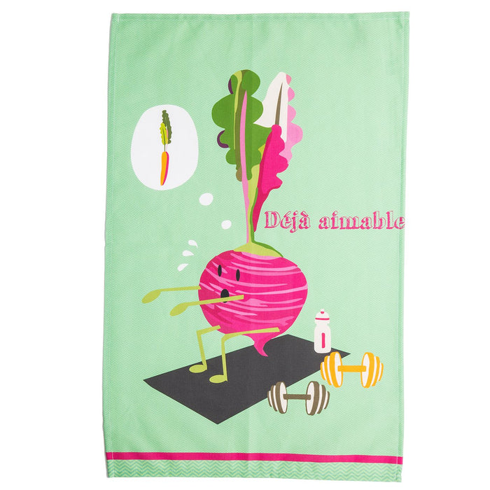 Exorcising Radish 100% Cotton Tea Towel