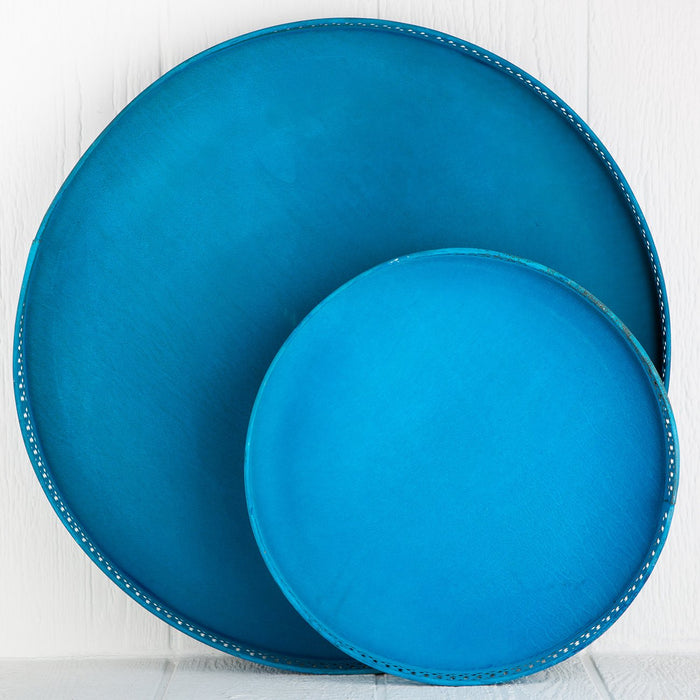Extra Large Blue Moroccan Tray