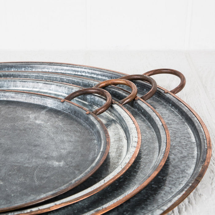 Extra Large Copper Serving Tray