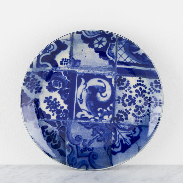 Fine Stoneware Blue and White Plates