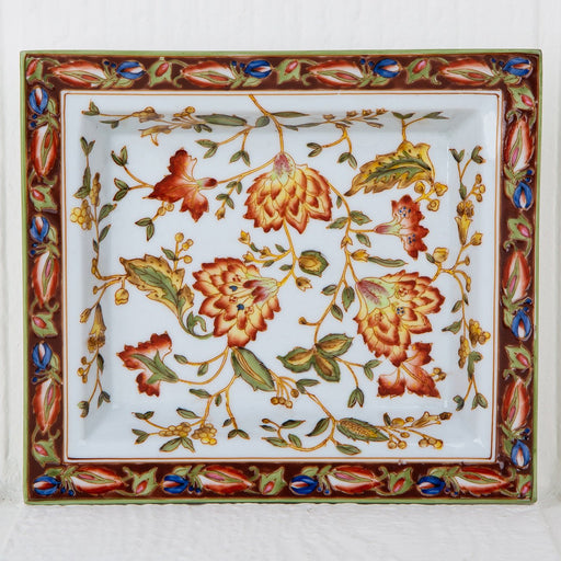 Floral and Kashmir Decorative Tray