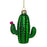Flowering Cactus Glass Ornament