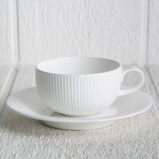 Flute Teacup and Saucer