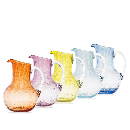 French Hand Blown Glass Pitchers