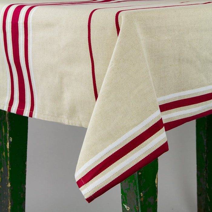 "French Striped Tablecloth (65"" x 79"")"