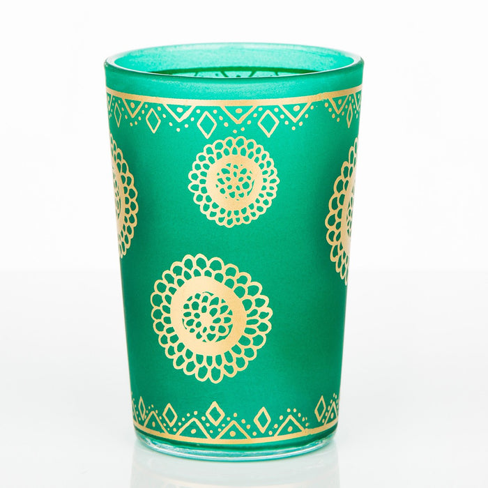 Frosted Green Oujam Moroccan Tea Glass