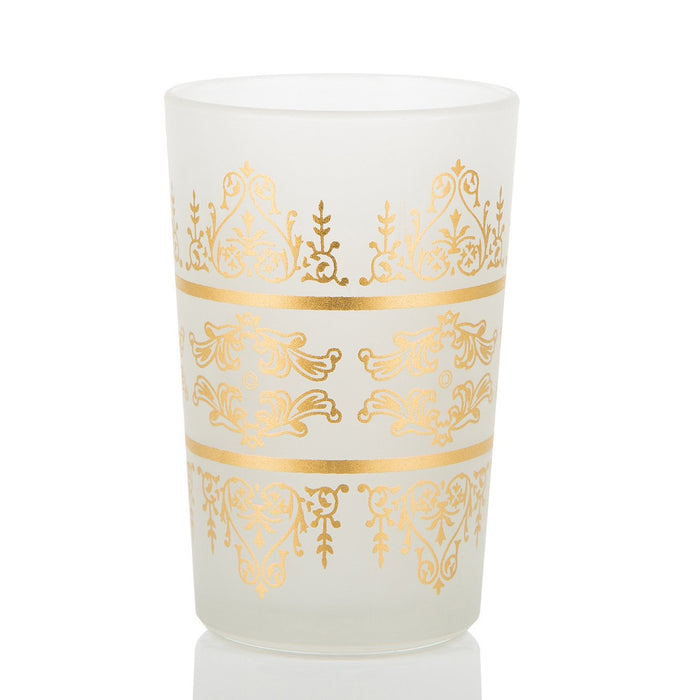 Frosted Motif Moroccan Tea Glasses