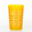 Frosted Yellow Motif Tea Glass