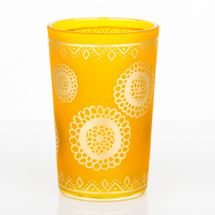 Frosted Yellow Oujam Moroccan Tea Glass