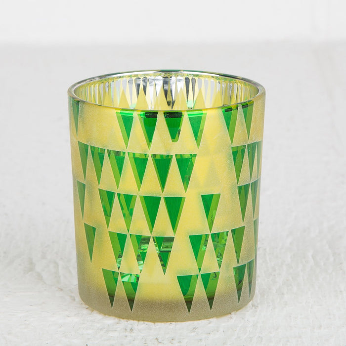Frosted Yellow Triangel Votive