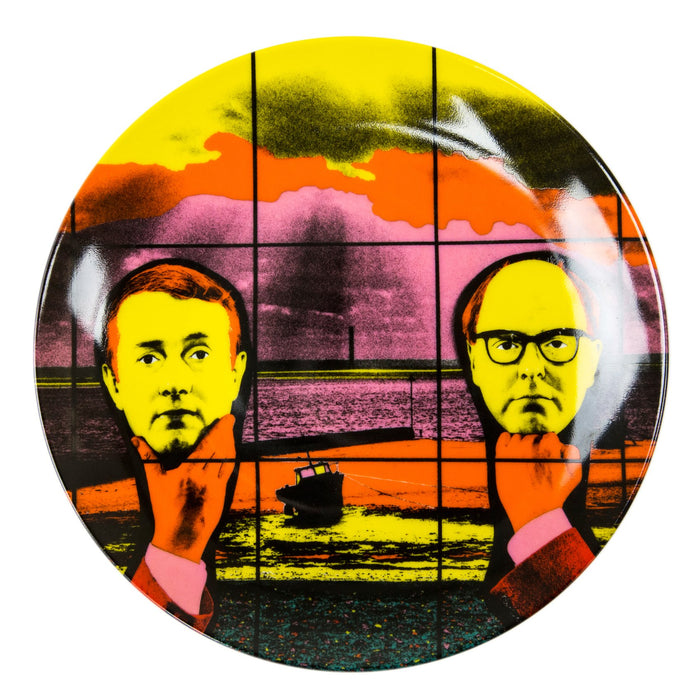 "Gilbert & George ""Light Headed"" Porcelain Plate (8.23""⌀)"