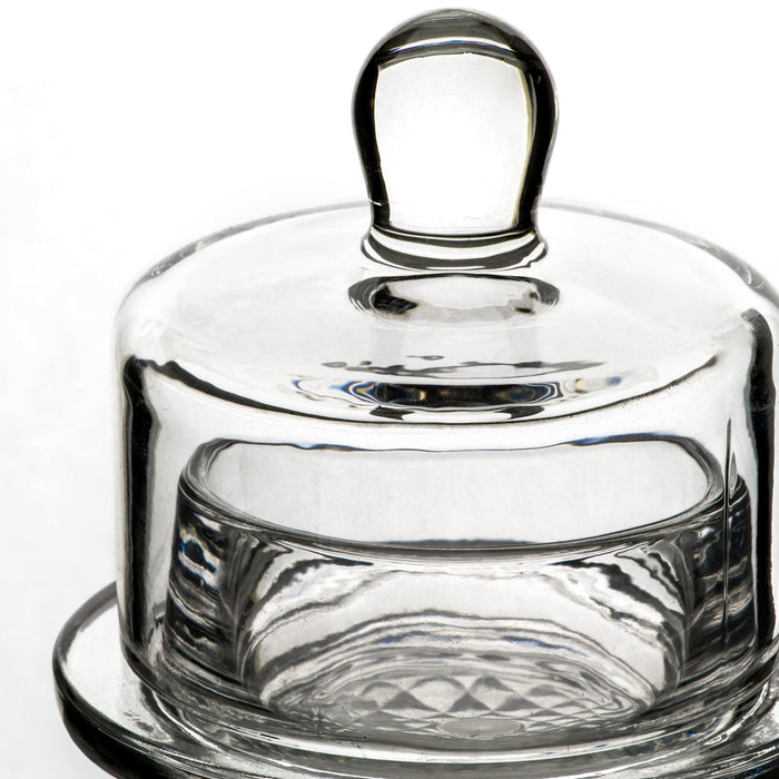 Glass Butter Dish with Covered Dome