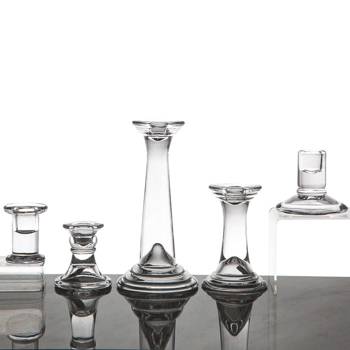 "Glass Candlestick Holder (4.75"")"