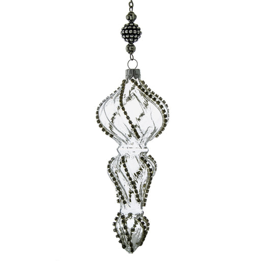 Glass Medicis Twirl Diamond Ornament
