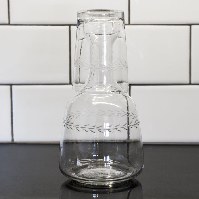 Glass Pitcher with Tumbler