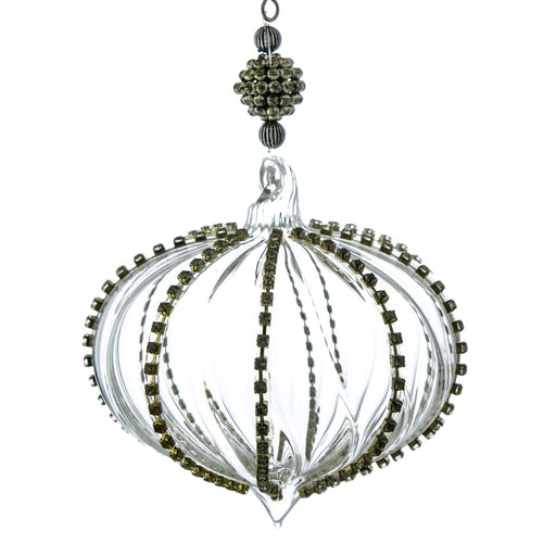 Glass Whirligig Diamond Ornament