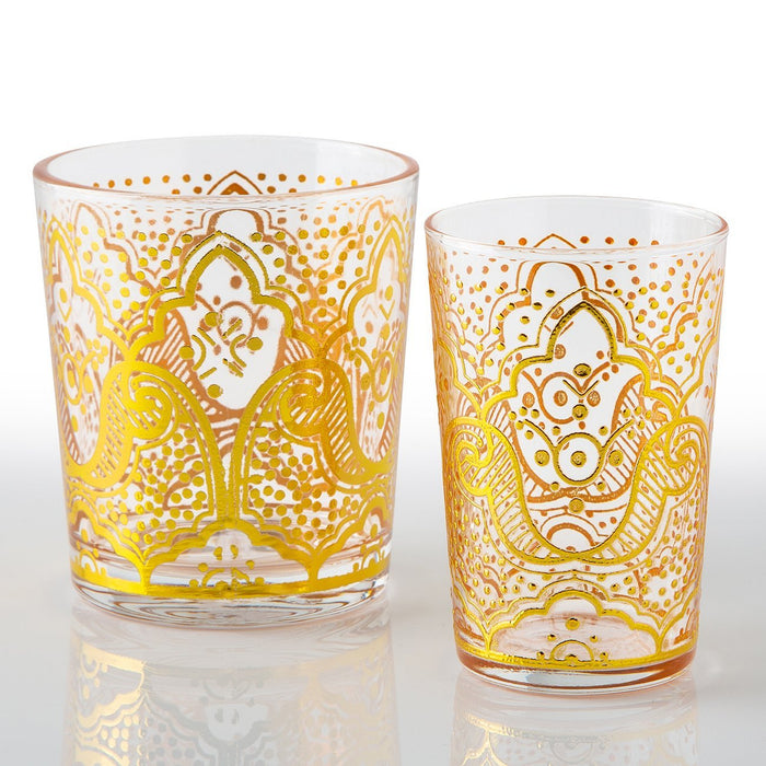 Gold El Kef Moroccan Tea Glasses