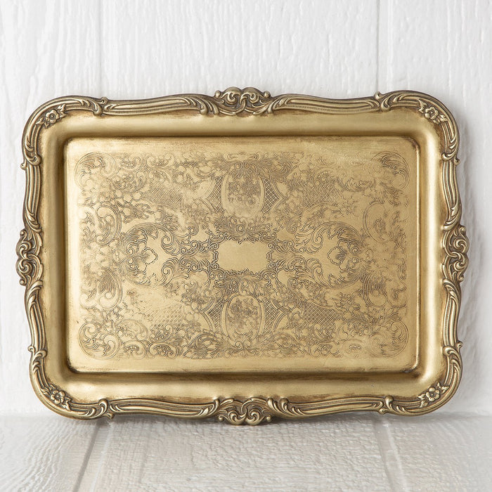 Gold Engraved Tray