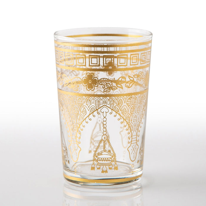 Gold Misbah Moroccan Tea Glass (Short)