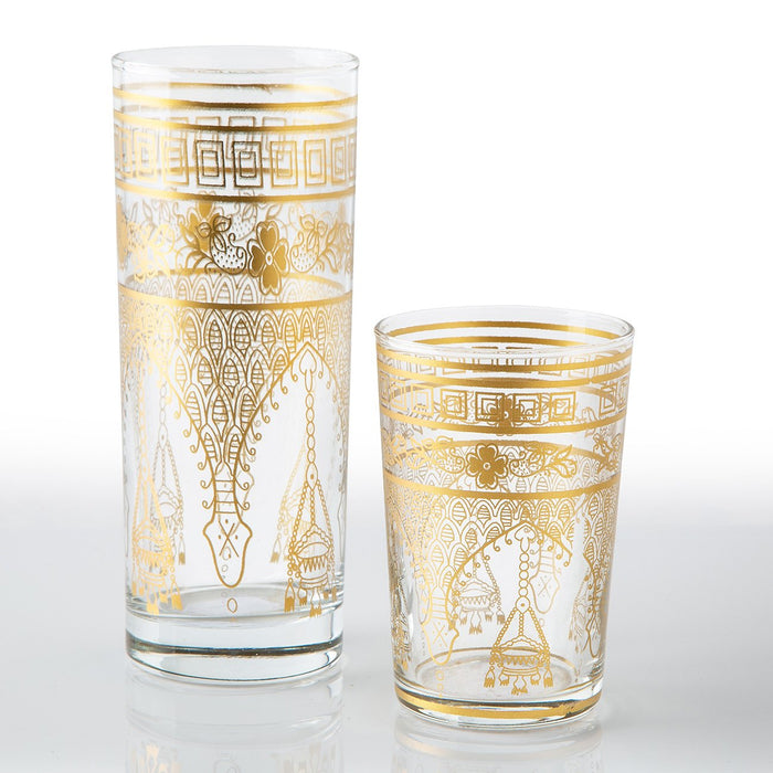 Gold Misbah Moroccan Tea Glasses