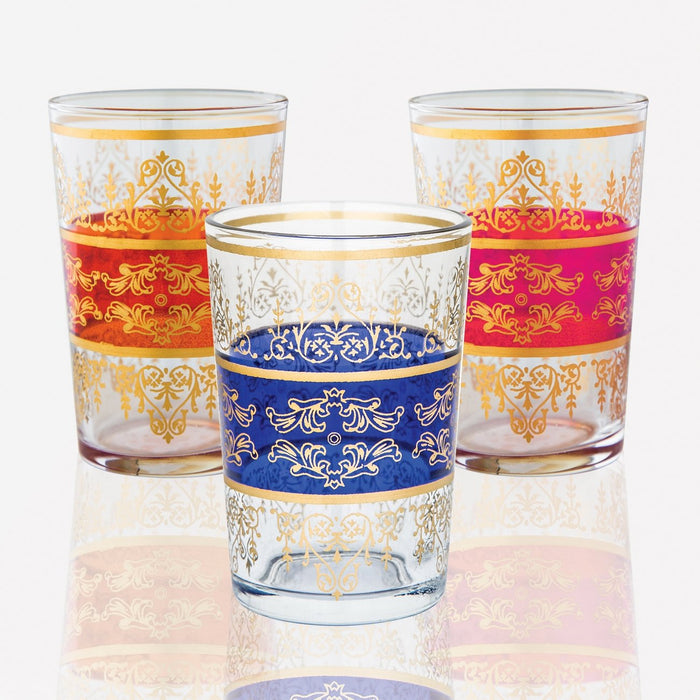 Gold Motif Moroccan Tea Glasses